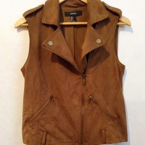 Women's Suede Vest Forever 21 Size S